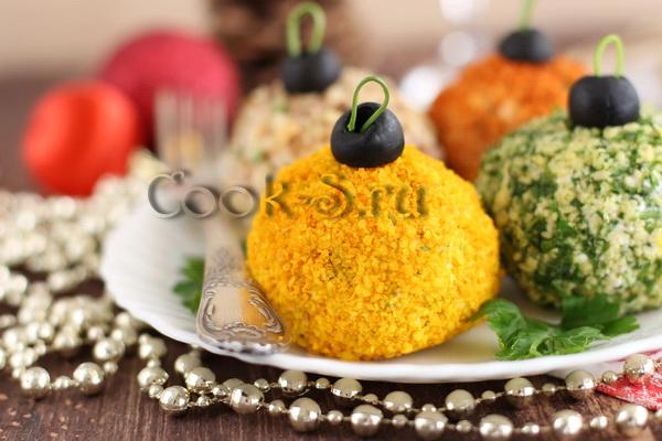 салат новогодние шарики на новый год 2017