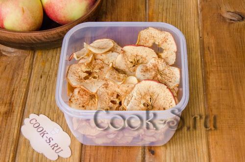 Яблочные чипсы в духовке