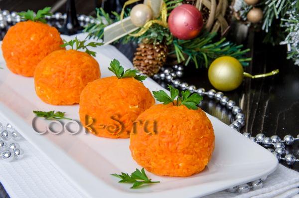 Новогодняя закуска Мандаринки