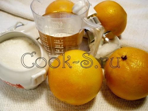 апельсиновые цукаты - ингредиенты