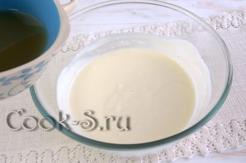 желатин с йогуртом