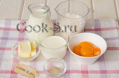 карамельное мороженое - ингредиенты
