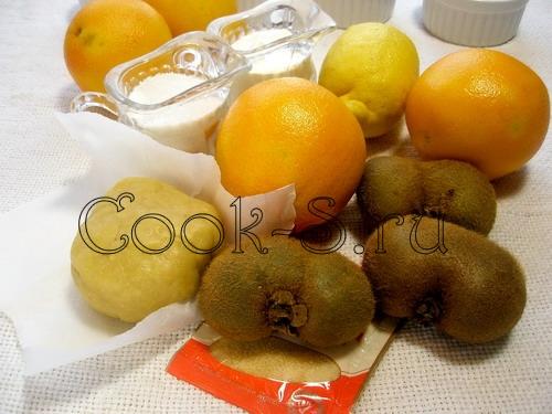 Песочная корзинка с фруктами