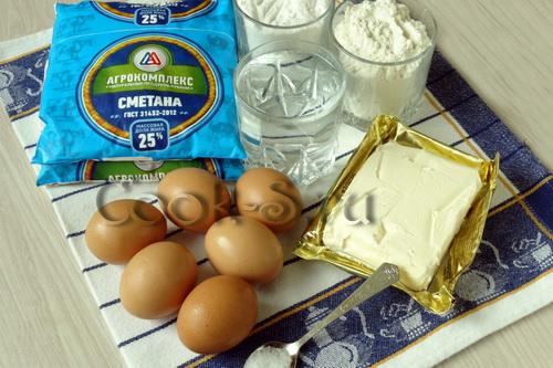 торт дамские пальчики - ингредиенты