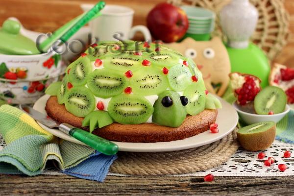 торт изумрудная черепаха с киви