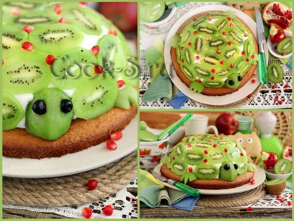 торт изумрудная черепаха рецепт с фото