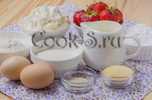 торт клубничный мусс - ингредиенты