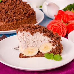 торт норка крота с бананами и сгущенкой рецепт с фото