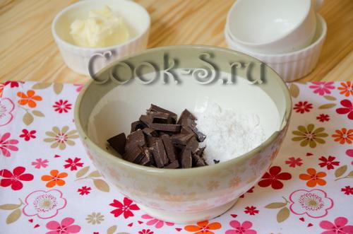 шоколад и сахарная пудра