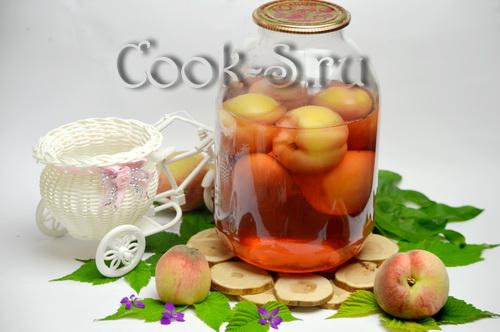 Компот из персиков на зиму – простой рецепт без стерилизации