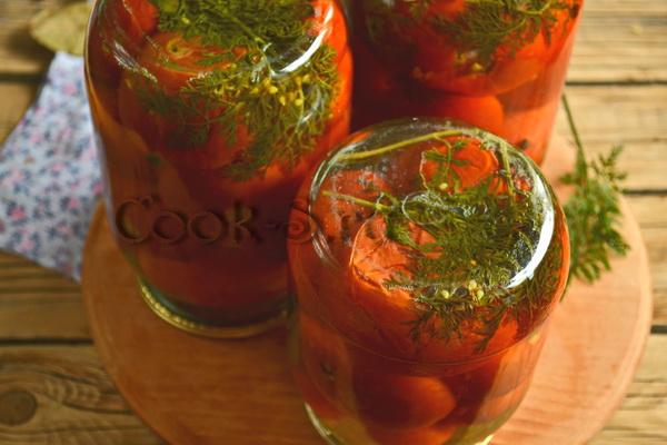 помидоры на зиму с морковной ботвой рецепты с фото