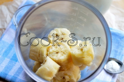 Банановый молочный коктейль - Пошаговый рецепт с фото, Напитки