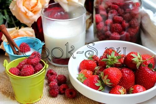 молочный коктейль с ягодами - ингредиенты