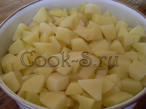 гороховый суп - картошка