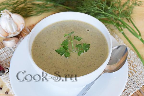 Суп пюре из шампиньонов в мультиварке пошаговый рецепт