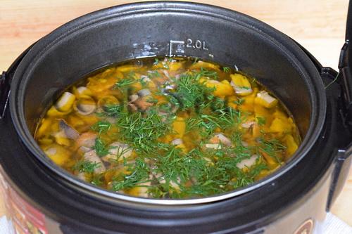 грибной суп пюре с тыквой рецепт