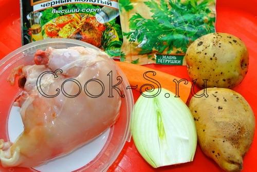 куриный суп пюре - ингредиенты