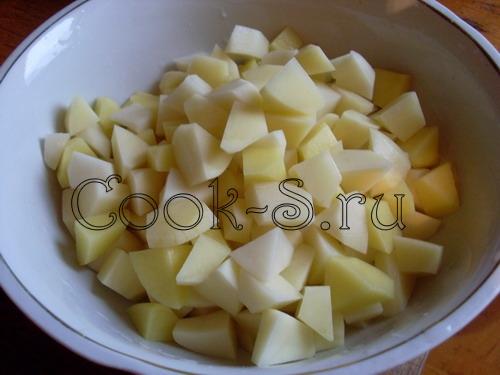 рассольник - картофель