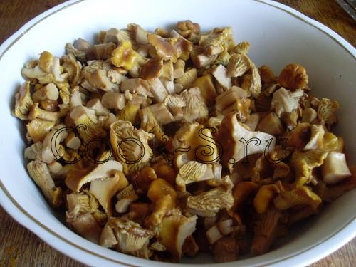 Постное жаркое с сушеными грибами - рецепт