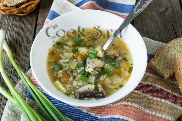 суп с рыбными консервами и рисом фото