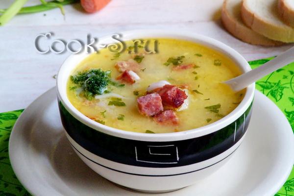 Сырный суп рецепт с плавленным