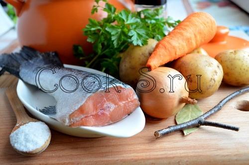 Пошаговый рецепт ухи из лосося