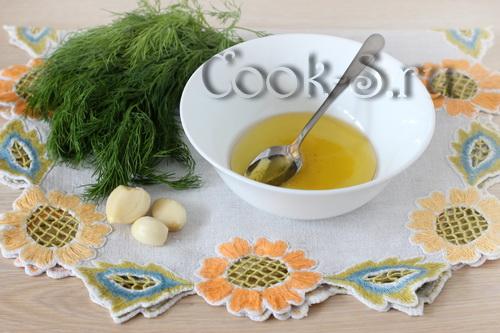 масло зелень чеснок