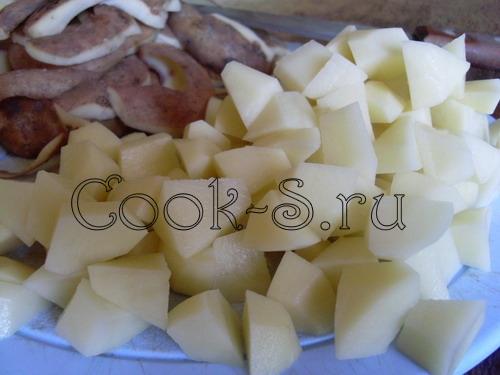 щи из свежей капусты - картофель