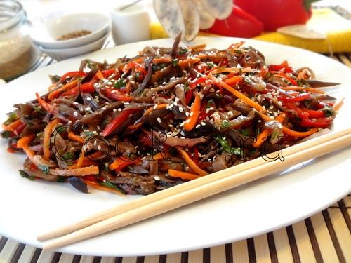 Салат из баклажанов о корейски