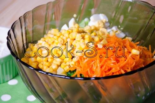 салат из корейской моркови и крабовых палочек