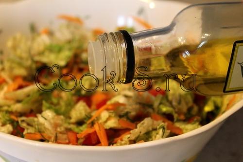 салат из пекинской капусты с перцем