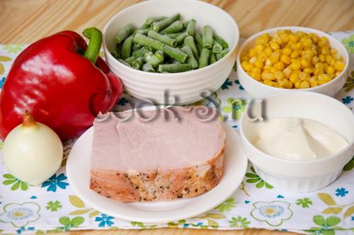 салат колизей - ингредиенты