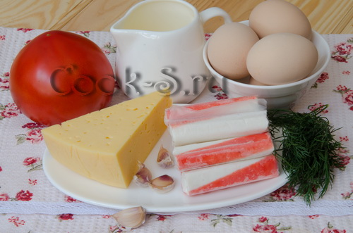 салат красное море - ингредиенты