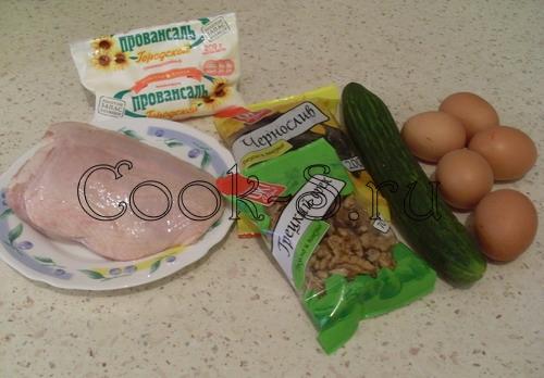 салат нежность - ингредиенты