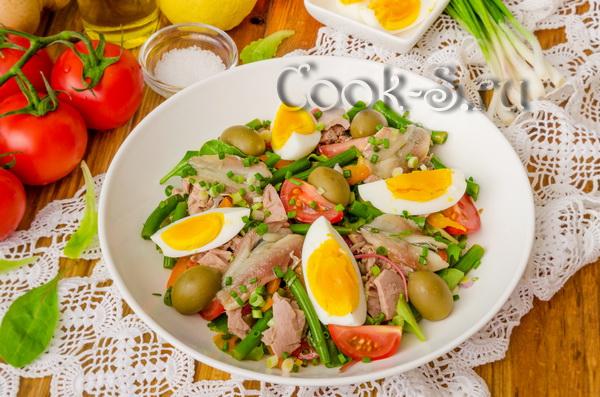 салат нисуаз с тунцом классический рецепт с фото