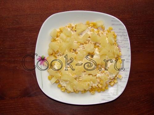 салат с ананасом и курицей - фото 3