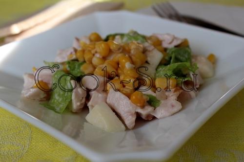 Подсолнух салат рецепт с с курицей копченой и