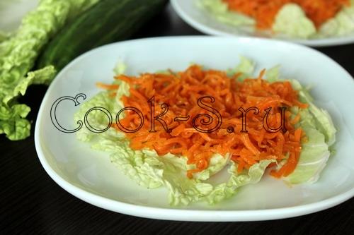 Салат ветчина огурец корейская морковь
