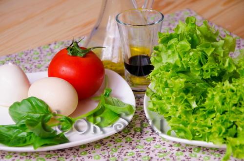 салат с яйцом пашот - ингредиенты