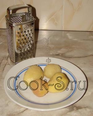 салат уральские самоцветы - картофель