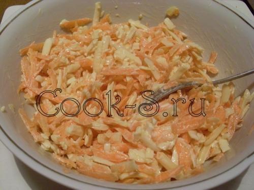 сырный салат - майонез