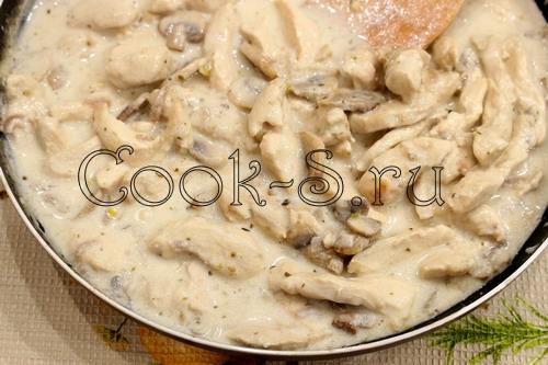куриный бефстроганов рецепт с фото