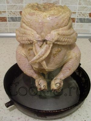 курица на банке - поставить на сковороду