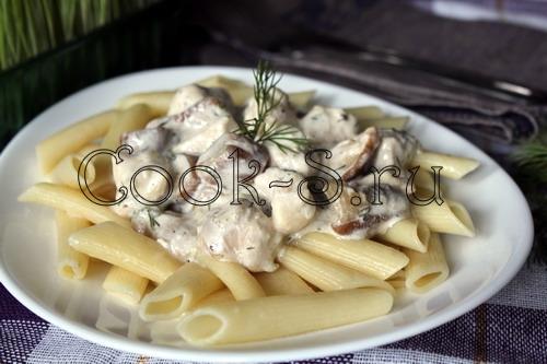 курица в мультиварке с грибами в сливочном соусе рецепт с фото