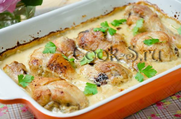 голень куриная в сливочном соусе в духовке