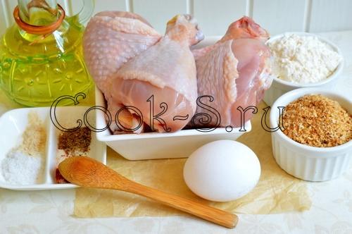 куриные ножки во фритюре - ингредиенты