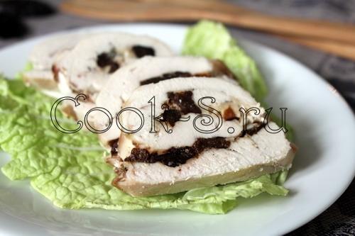 куриный рулет с черносливом