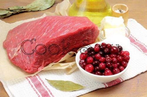 мясо с клюквой рецепт с фото