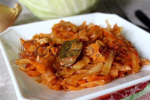 капуста тушеная с томатной пастой