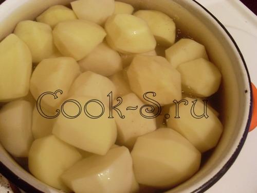 картофельное пюре - отварить